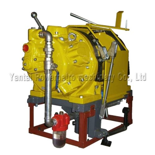 offshore rotation base air powered winch